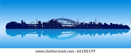 Detailed vector Sydney skyline - stock vector