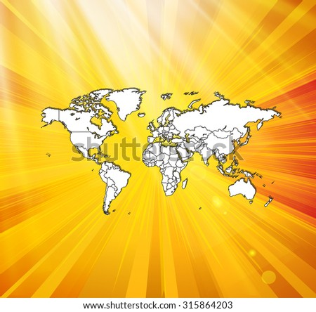 Detailed world map awesome background vector stock vector hd detailed world map with awesome background vector illustration gumiabroncs Gallery