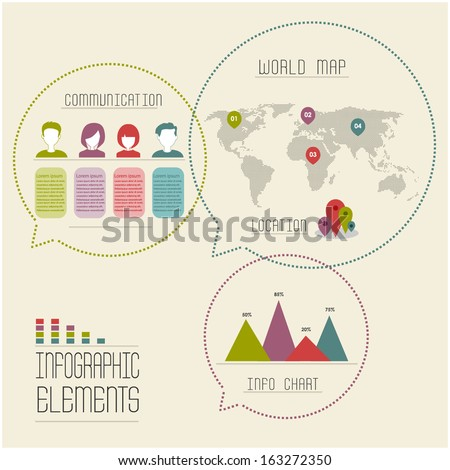 details for infographic design - stock vector