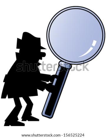 Detective - stock vector