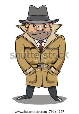 Detective agent or spy man for security or police concept design. Jpeg version also available in gallery - stock vector