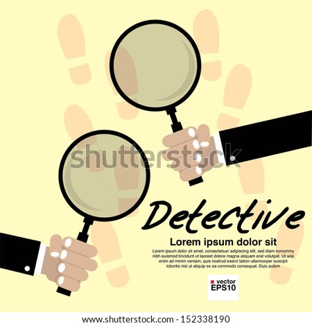 Detective Vector Illustration Concept.EPS10  - stock vector