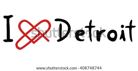 Detroit love icon