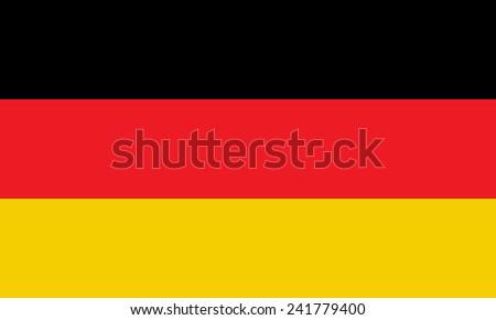Deutschland flag  - stock vector