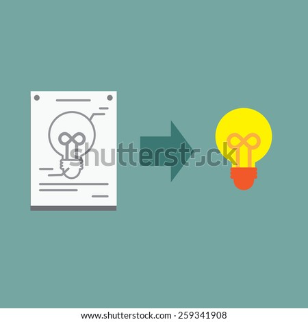 Develop Idea to the Great Product - stock vector