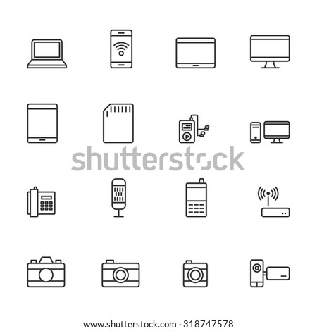 Device icons. - stock vector