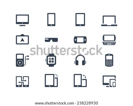 Device icons. Gadgets - stock vector