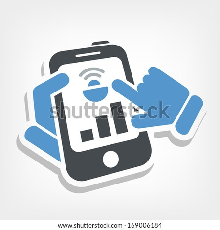 Device levels icon - stock vector