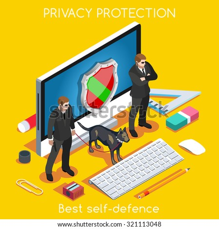 Device Protection. palette 3D Flat Vector Set. Privacy Protection Antivirus Data Security Cryptography Firewall Smartphone Encrypted Interface Cloud Safety Internet Security Infographic EPS JPG JPEG - stock vector