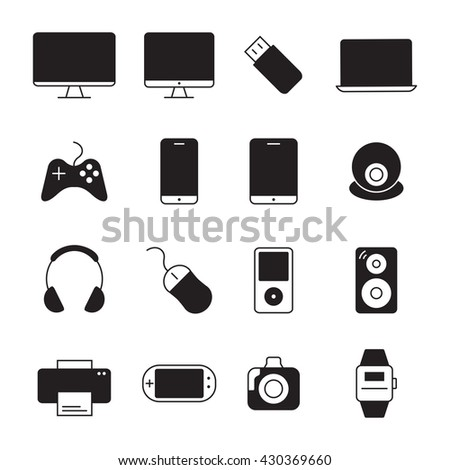 devices icons set. Vector illustration.
