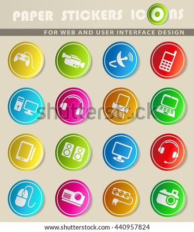 Devices simply symbols for web and user interface - stock vector