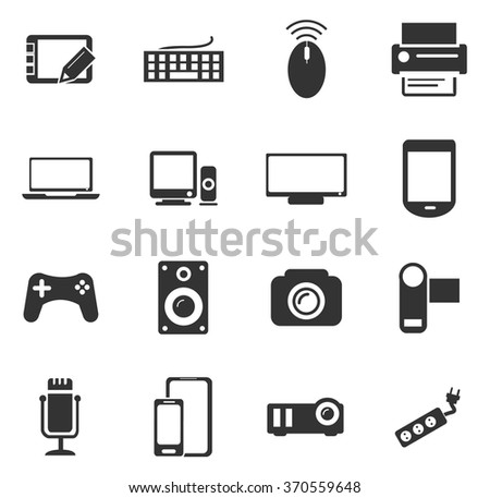 Devices symbol for web icons