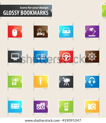 Devices vector bookmark icons for your design