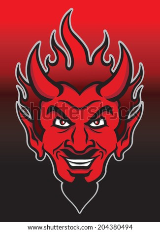 devil - stock vector
