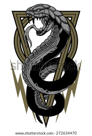 Devil Snake - stock vector