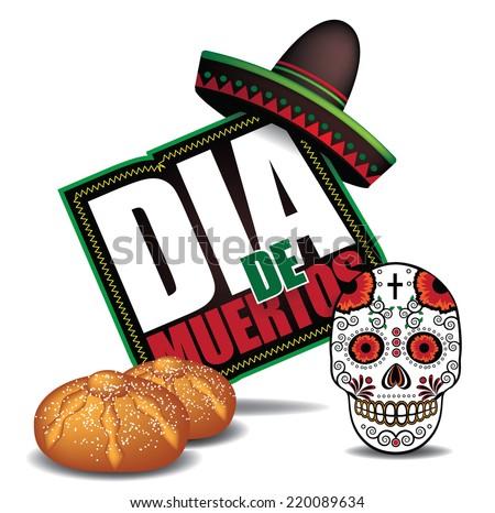 Dia de Muertos Day of the dead icon dark EPS 10 vector - stock vector