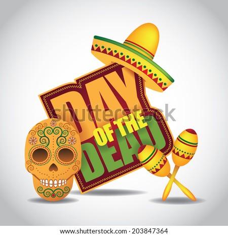 Dia de Muertos - Mexican Day of the dead icon. EPS 10 vector. - stock vector