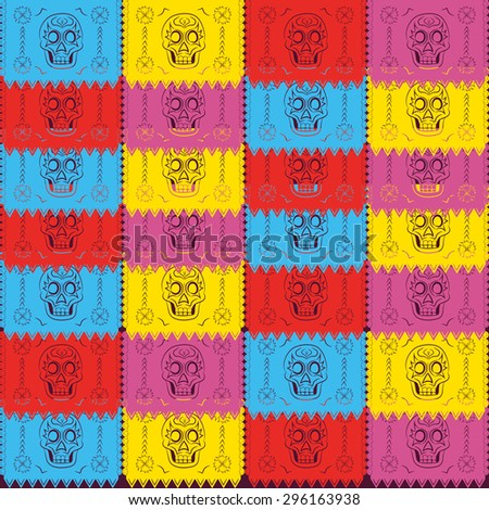 Dia de Muertos - Mexican Day of the death spanish text. decoration - stock vector