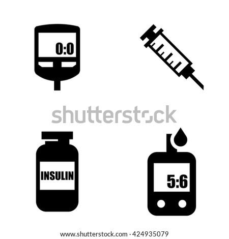 diabetes black icon set blood glucose stock vector 424935079 rh shutterstock com diabetes images clipart diabetes images clipart