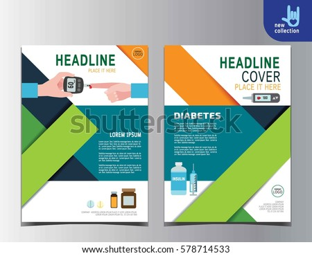 Diabetes Health Flyer Leaflet Brochure Template Stock Vector