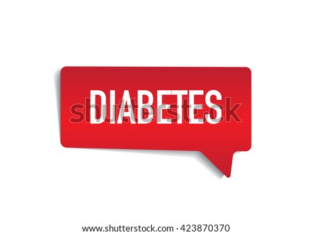 DIABETES on speech bubble