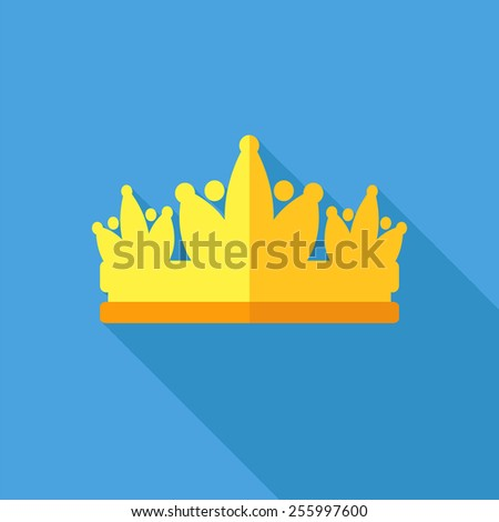 Diadem vector illustration in flat style - stock vector
