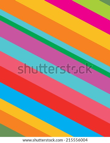 Diagonal Candy Stripped Pattern - Vector - stock vector