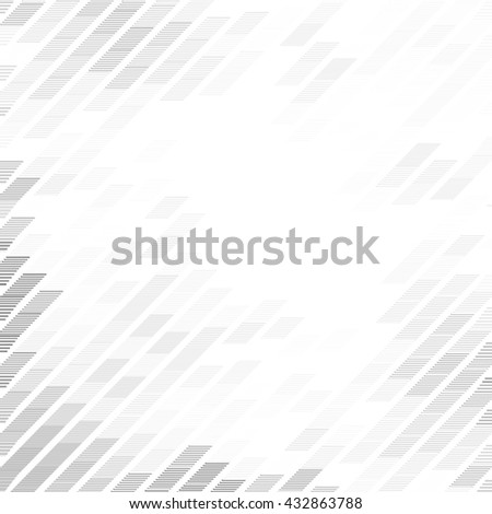 Diagonal lines, abstract geometric shapes background with grey and white color tone - stock vector