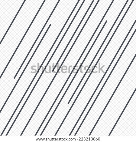 Diagonal lines pattern background. Abstract wallpaper with stripes or curves. Grid lines texture. Cells repeating pattern. White background. Vector - stock vector