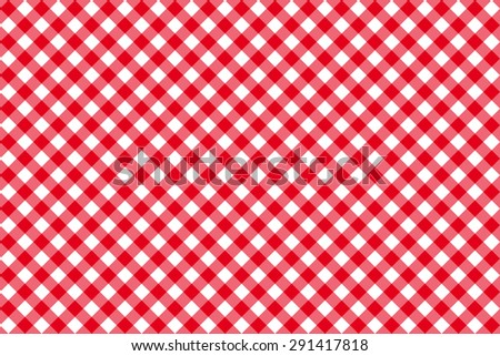 diagonal red tablecloth seamless pattern vector illustration - stock vector