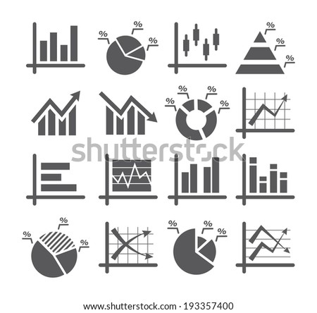 Diagram and graphs icons - stock vector