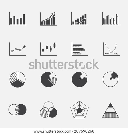 diagram and graphs icons set.