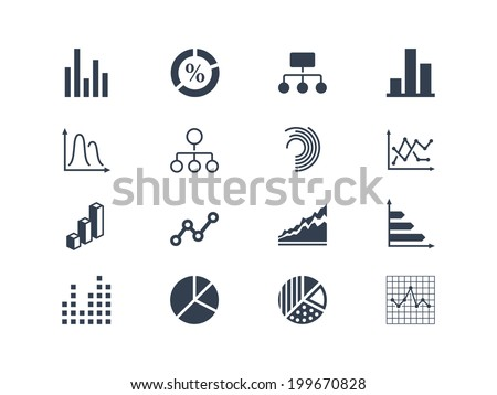 Diagram and infographic icons - stock vector