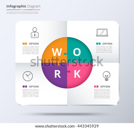 Diagram infographic template used sample content stock vector hd diagram and infographic template used sample content 4 choice infographic diagram system diagram and ccuart Choice Image