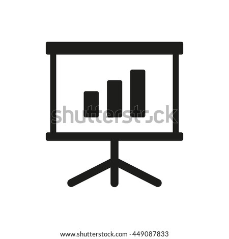 Diagram board vector icon. Illustration isolated on white background for graphic and web design.