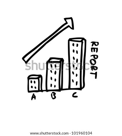 diagram chart, graphic for business report - stock vector