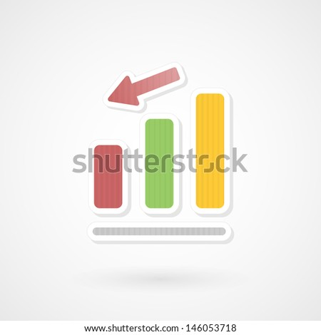 Diagram down - stock vector