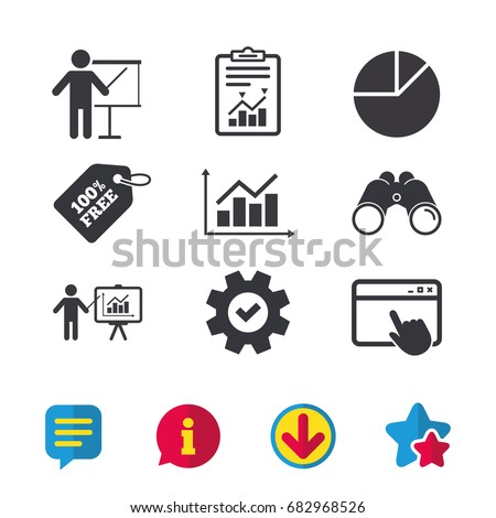 Diagram graph pie chart icon presentation stock vector royalty free diagram graph pie chart icon presentation billboard symbol supply and demand man standing ccuart Choice Image