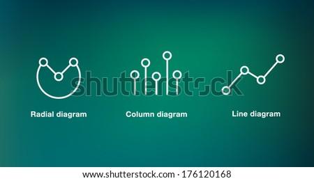 Diagram icon - stock vector