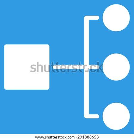 diagram icon from commerce set vector style flat symbol white color rounded - Network Diagram Icon