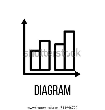 Diagram icon logo modern line style stock vector hd royalty free diagram icon or logo in modern line style high quality black outline pictogram for web ccuart Image collections