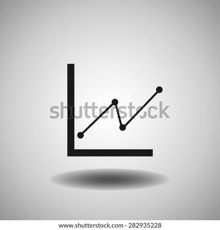 Diagram icon, vector illustration. Flat design style - stock vector