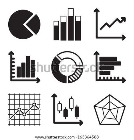 Diagram Icons Set - stock vector