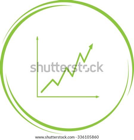 diagram. Internet button. Vector icon. - stock vector