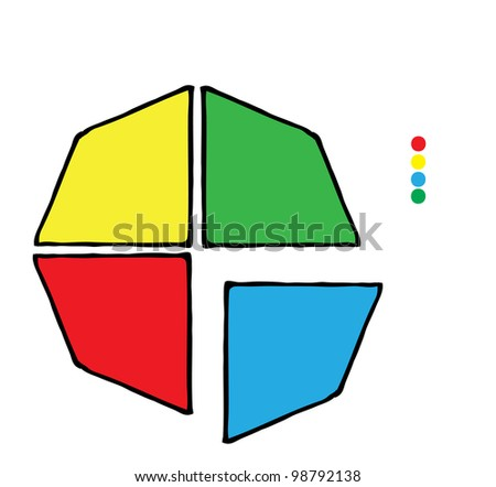 diagram with space for text - stock vector