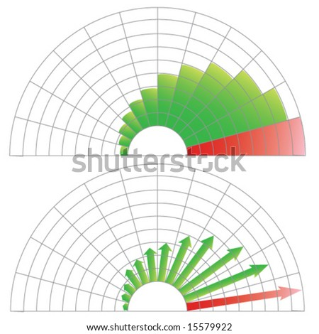 diagrams showing growth - stock vector