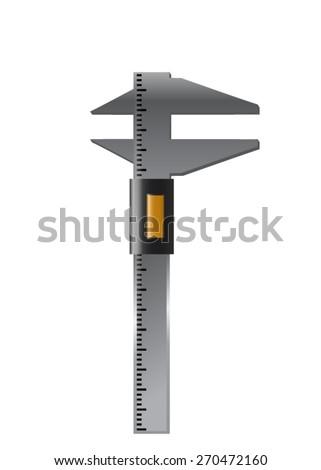 Dial Caliper. Vector - stock vector