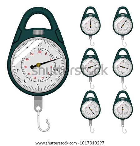 Dial weight scale on transparent background