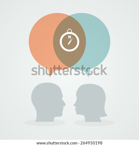 Dialog about destination - stock vector