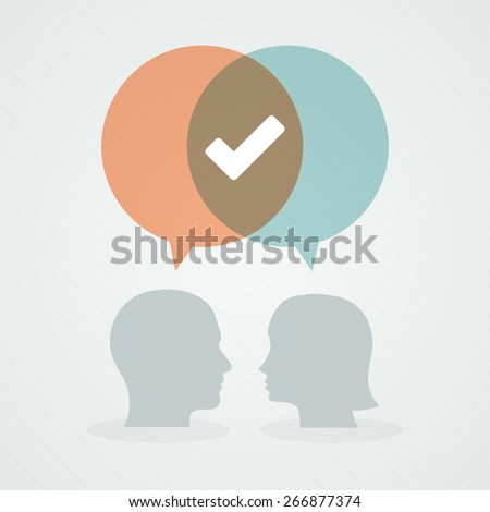 Dialog about positivity - stock vector